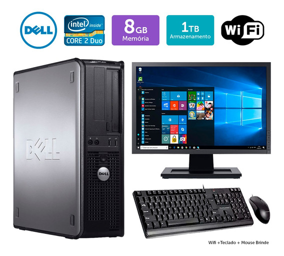 Desktop Barato Dell Optiplex 780int C2duo 8gb 1tb Mon17w