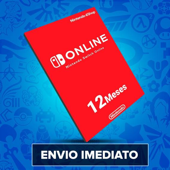 Cartão Nintendo Switch Online 12 Meses - Envio Imediato