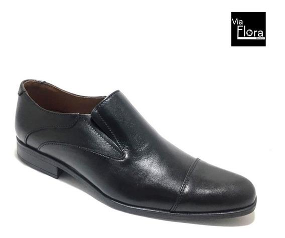 Zapatos De Vestir Con Elastico Cuero Envio Gratis (23/1553)