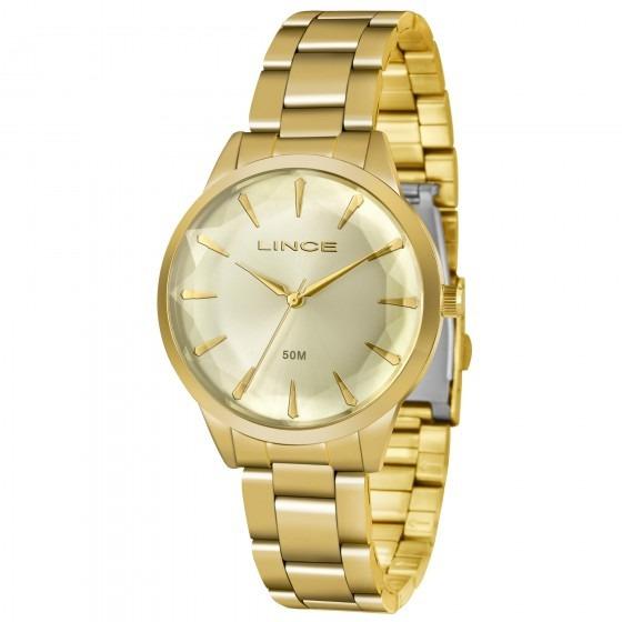 Relógio Lince Lrg4563l C1kx Feminino Dourado - Refinado