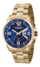 Relógio Masculino Dourado Mondaine Aprova D