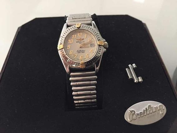 Relógio Breitling Callistino 2 Pulseiras Couro E Bullet