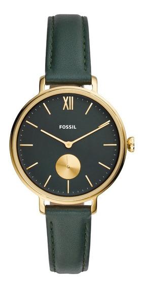 Relógio Fossil Kalya Feminino Verde Couro Es4662/opn