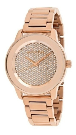 Reloj De Mujer Michael Kors Mk6210 Oro Rosado Kinley