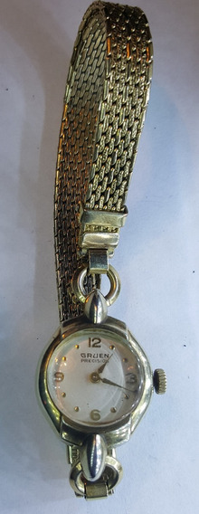 Antiguo Reloj Gruen Precisión 10k Oro Chapado 1930 Funciona