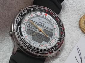 Relógio Technos Pilot - Hora Mundial - Frete Grátis !