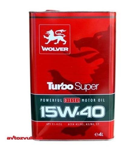 Aceite 15w40 Wolver 4 Litros ( 100% Alemán) Para 20.000 Km