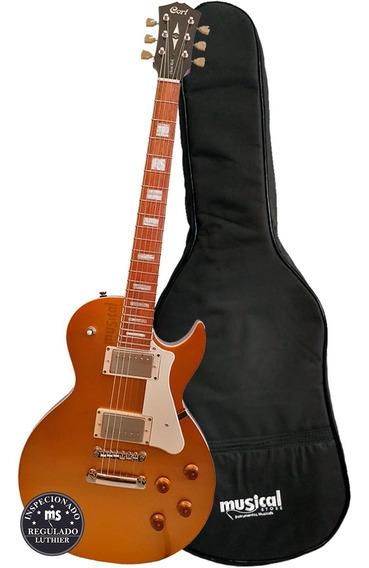 Guitarra Elétrica Cort Cr200 Dourada Les Paul Com Capa Luxo