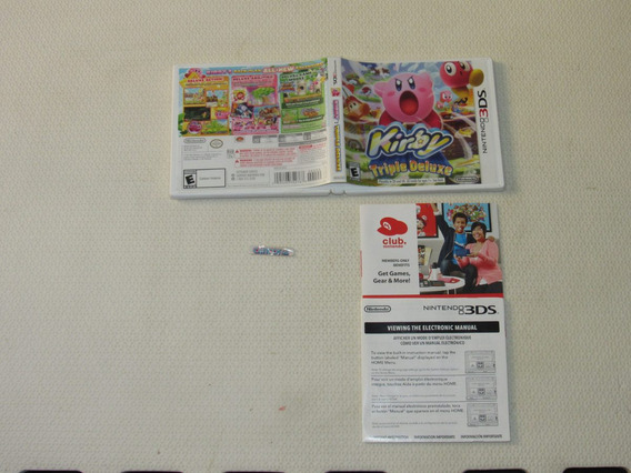 Somente Capa Kirby Triple Deluxe 3ds Sem Jogo Nintendo 3ds