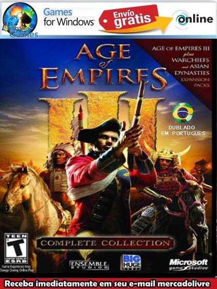 Age Of Empires 3 Complete Colection Pc Dublado Em Portugues