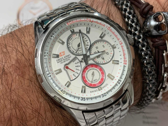 Swiss Army Chronograph Wr100m Hc-2602 Quartz