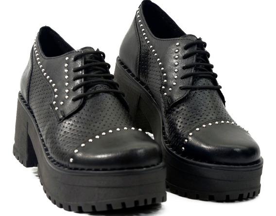 Zapato Acordonado Plataforma Savage Mb-120-5 Calzados Susy