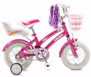 Bicicleta Olmo Tiny Pets Rodado 12 Infantil Acero Nena Niña