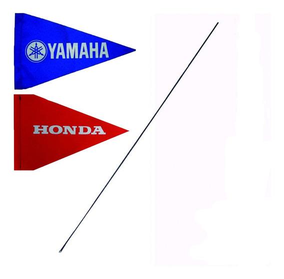 Antena P Cuatriciclo Con Banderin Yamaha Honda Top Racing