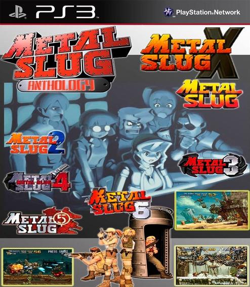 Metal Slug Collection - 7 Jogos - 1 Ao 6 E X - Jogos Ps3 Playstation 3