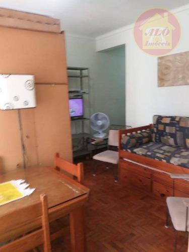Apartamento Com 1 Dormitório À Venda, 53 M² Por R$ 185.000 - José Menino - Santos/sp - Ap5865