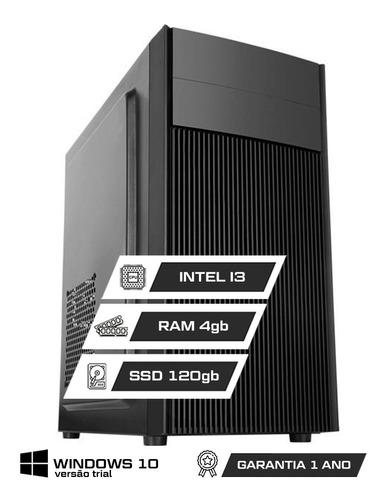 Imagem 1 de 7 de Computador Office Intel Core I3 4gb Ddr3 Ssd 120gb Hdmi + Nf