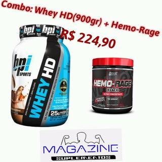 Combo: Whey Hd 900gr + Hemo-rage