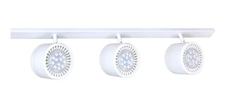 Aplique Pared O Techo 3 Luces Led 12w Spot Ar111 Dimerizable Barral Riel Cabezales Móviles Deco Minimalista