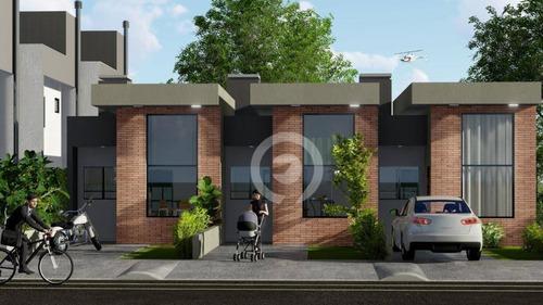 Lançamento No Bairro Campo Grande. Casas Em Construção Com 02 Dormitórios - Ca1090