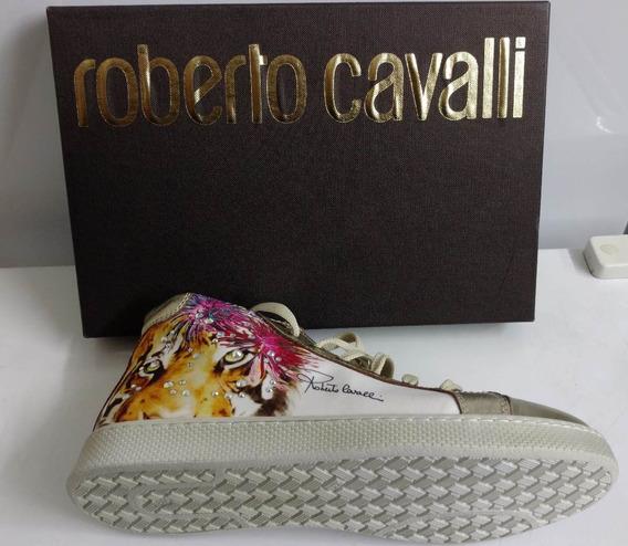 Bota Roberto Cavalli Platin/instam Tigre Original Barato D.