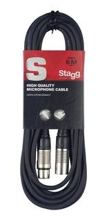 Cable Microfono Balanceado Canon Canon 6 Metros Stagg Smc6