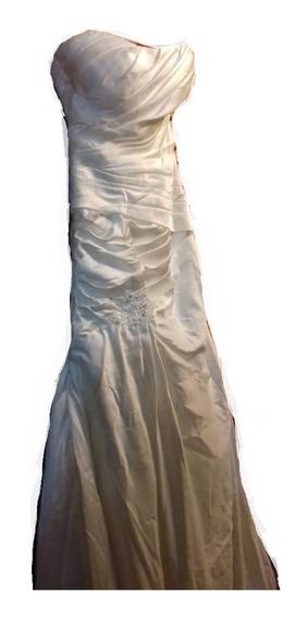 Vestido Novia Nuevo Blanco Usa George Bridal Talla S Boda