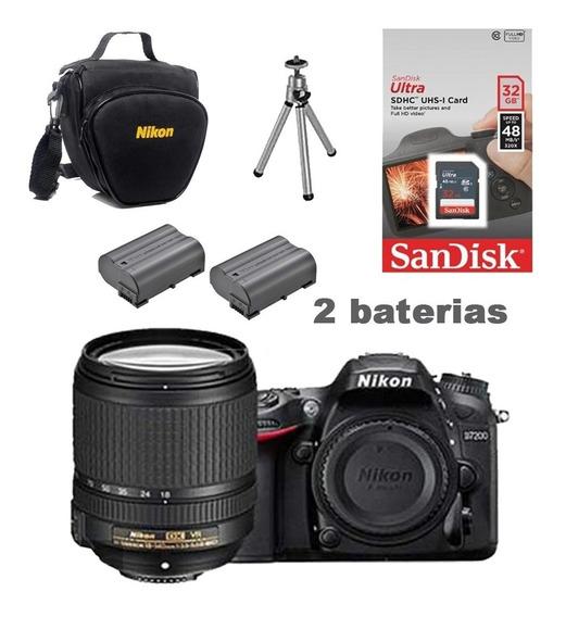Câmera Nikon D7200c/ 18-140mm+ Bolsa+ Tripé+ 32gb+ Bateria
