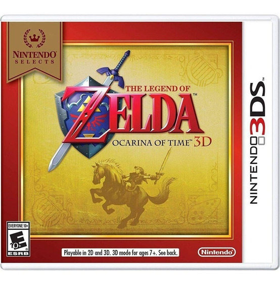 The Legend Of Zelda Ocarina Of Time 3ds - Midia Fisica Novo