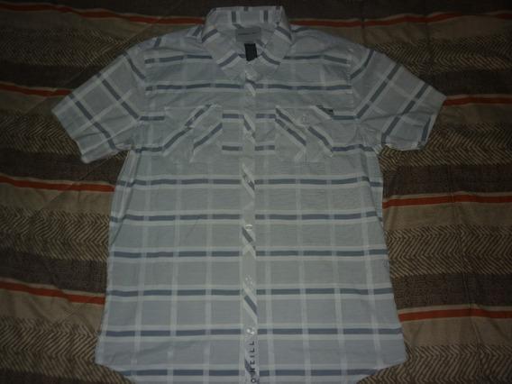 E Camisa O´neill Cuadros Celeste Surf Talle L Art 87155