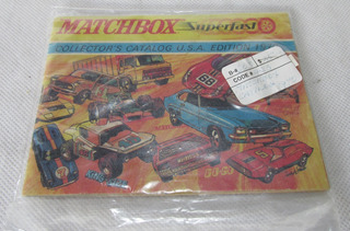 Matchbox Toys Catálogo 1986 como nuevo viejo Stock de tienda