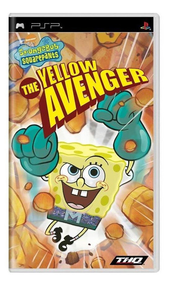 Spongebob Squarepants The Yellow Avenger Psp Mídia Física