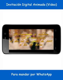 Invitación Digital Personalizada (video) Para Whatsapp