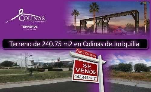 Se Vende Gran Terreno En Colinas De Juriquilla, 240.75 M2