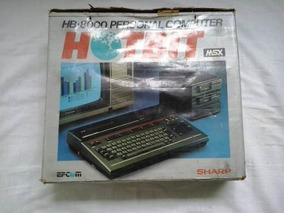 Msx Sharp Home Computer Hot Bit Hot Bit Hb 8000 Computador