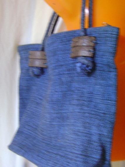 Bolsa Azul De Tecido