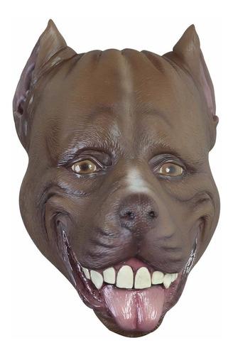Imagen 1 de 1 de Máscara De Látex Perro Pitbull Animales Divertida Broma