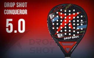 Paleta Drop Shot Conqueror 5.0 Jmd + Funda+cubre