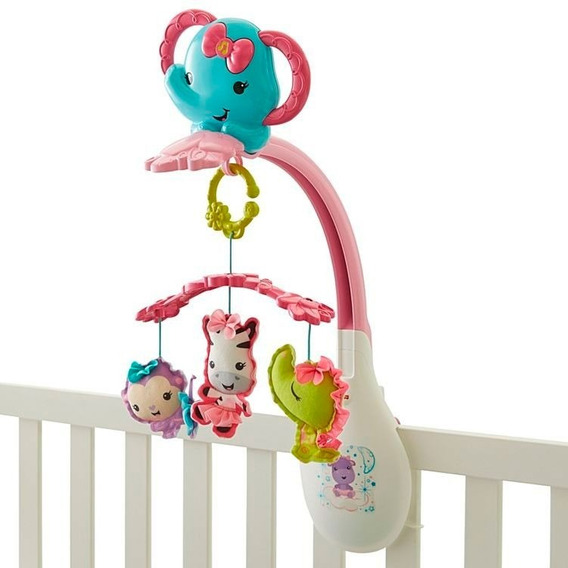 Fisher Price Movil Musical Rosa Drd69