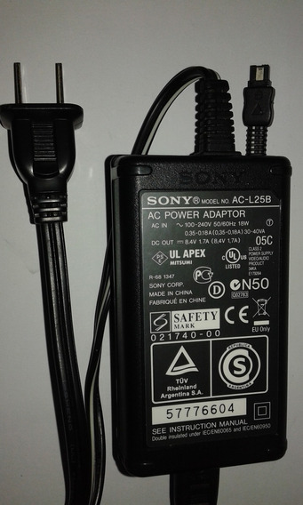 Fonte De Câmera Digital Sony Ac-l20 L25 L200 L200b L200c