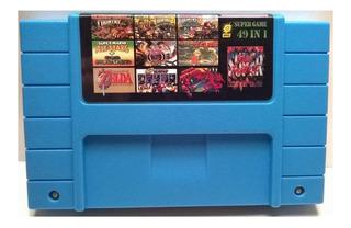 Juego 49 En 1 Multi Snes Grabando Mario Zelda Metroid