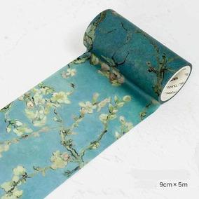 Washi Tape Fita Decorativa Pintura Flôr De Damasco Van Gogh