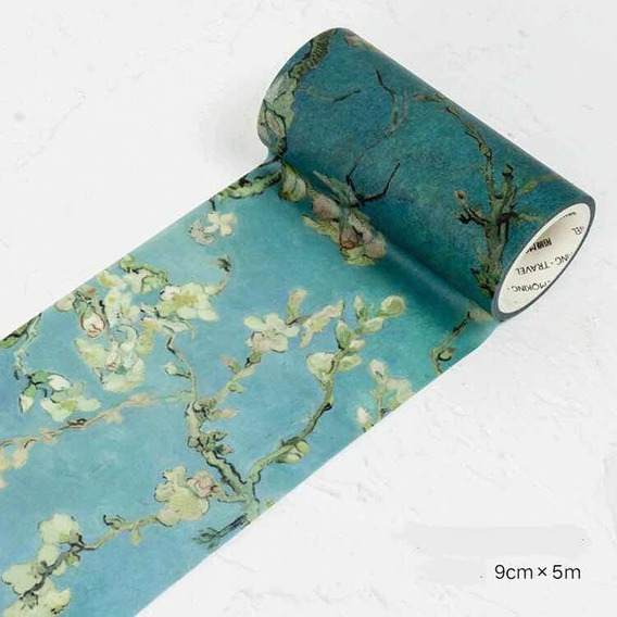 Washi Tape Fita Decorativa Pintura Flôr De Damasco Van Gogh