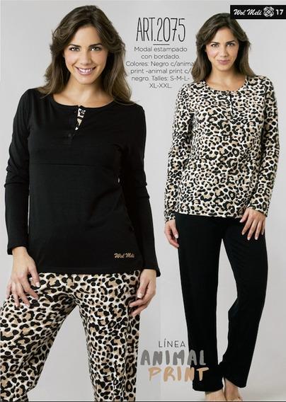 Pijama Mujer Animal Print Hasta El Xxl !! Calidad Y Diseño