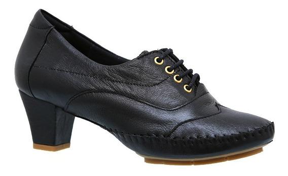 Sapato Feminino 790 Em Couro Preto Doctor Shoes