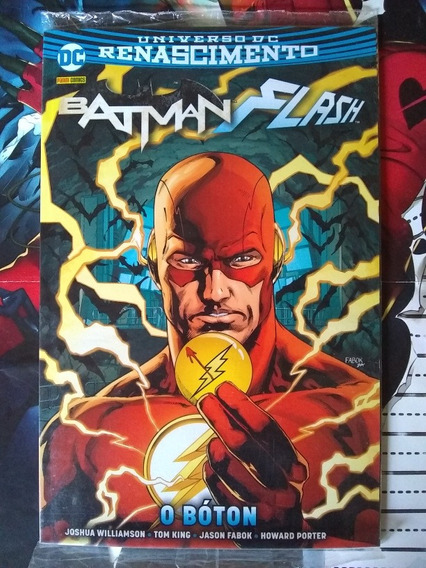 Batman Flash O Boton Panini Capa Cartonada Com Flash