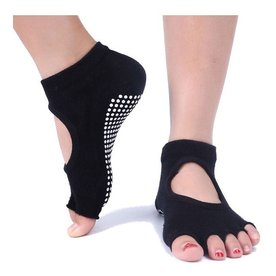 Calcetas Calcetines Antiderrapantes Para Yoga, Danza Colores