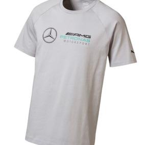 Camiseta Cinza E Preta Puma Mercedes Amg Petronas Logo