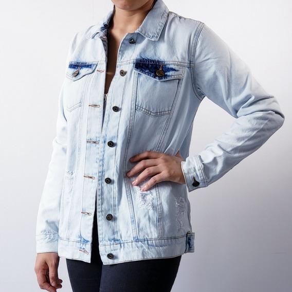 Jaqueta Maxi Jeans Feminina Lady Rock Frete Grátis