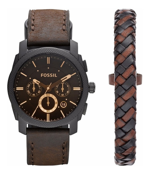Kit Relógio E Pulseira Fossil Fs5251set